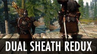 скайрим dual sheath redux