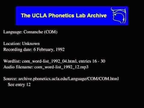 Comanche audio: com_word-list_1992_12