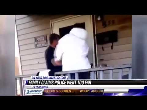 (Cops) put VA mom in chokehold after her kids film cousin's arrest from porch  7/28/14
