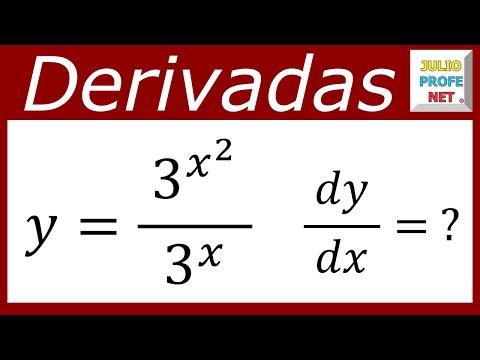 Derivada de un cociente de funciones exponenciales