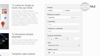 Gmail - Cómo crear una cuenta de Google