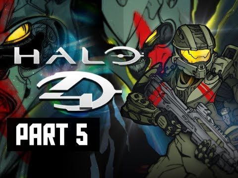 Halo 4 Walkthrough - Part 5 Campaign Beam Control XBOX 360 Let's Play Gameplay Commentary