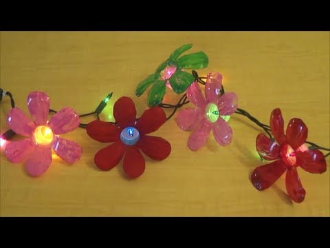 Recycle : Plastic Water Bottle Flowers