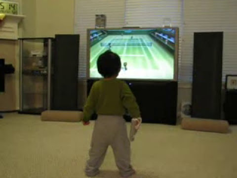 Wee Wii Mii - 22-month old video gamer