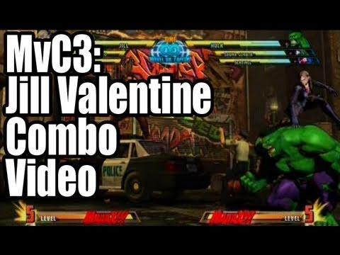 MvC3: Jill Valentine Combo Video / ジル・バレンタイン コンボ動画