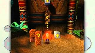 Crash Bandicoot on a Sony Playstation 1 view on youtube.com tube online.