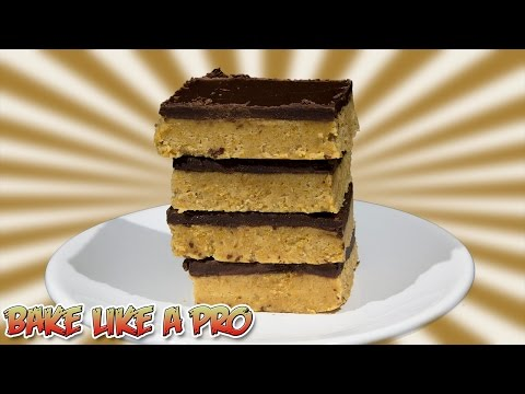 NO BAKE Chocolate Peanut Butter Bars Recipe