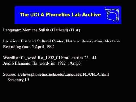 Flathead audio: fla_word-list_1992_19