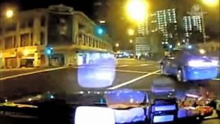 Dramatico choque de Ferrari en Singapur