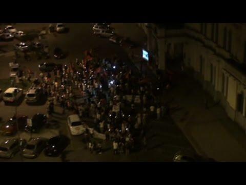 <b>Marcha de antorchas. </b>Agmer Paran� homenaje� en la calle a Susana Acevedo