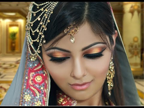 Gold and Peach Mehndi Makeup Tutorial - Indian Bridal /Asian /Arabic /Pakistani - Contemporary Look