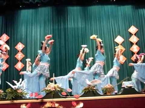 高雄市佛教會99年重陽敬老活動表演節目節錄 - 敦煌舞-1