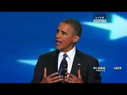 President Obama Acceptance Speech at 2012 Democratic National Convention (C-SPAN) - Full Speech