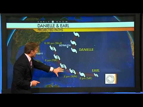 Tracking Hurricane Danielle, Tropical Storm Earl