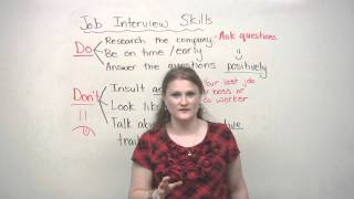DOs and DONTs, Job Interview Skills, engvid
