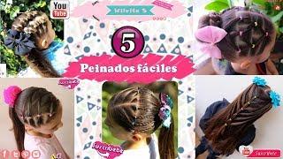 Youtube Cuatro Hermosos Peinados Faciles Y Rapidos Para Ninas