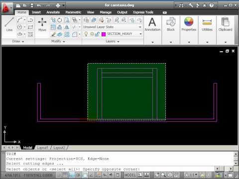 AutoCAD 2D Drawing Course A - Part 6 - Section Drawing