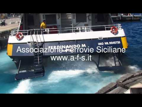 Ustica Lines Catamarano Ferdiando M - Particolare - il suono delle turbine