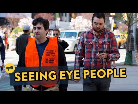 Seeing eye people prank