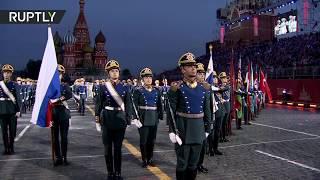 В Москве состоялось открытие фестиваля военных оркестров «Спасская башня» (23.08.2019 18:42)