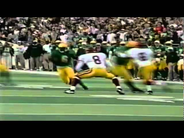 Oregon RB Derien Latimer 34 yard gain on screen pass to 1 yard line vs. USC 10-24-98
