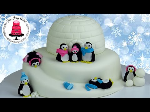 3D Igloo Cake With Penguins - How To With The Icing Artist And Vegetarian Baker