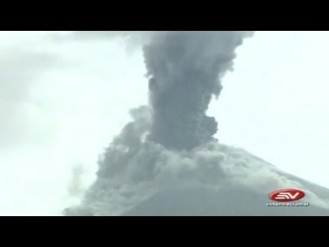 Erupción en el Volcán Tungurahua spanish news 12/18/2012