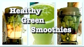 Healthy Green Smoothie Recipes // Vegan Smoothies by a Dietitian