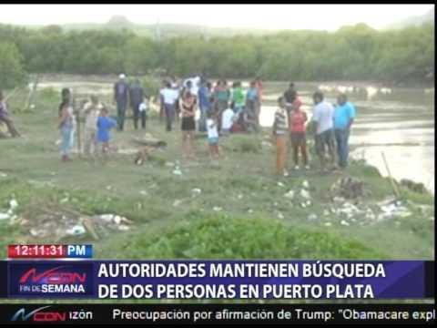 Sigue búsqueda de desaparecidos en Puerto Plata