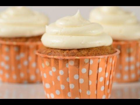 Carrot Cupcakes Recipe Demonstration - Joyofbaking.com