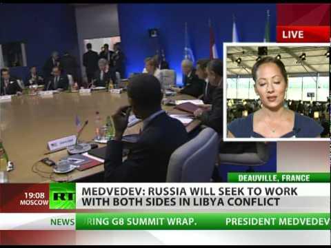 Medvedev at G8: Gaddafi must go, US must do better on missile defense