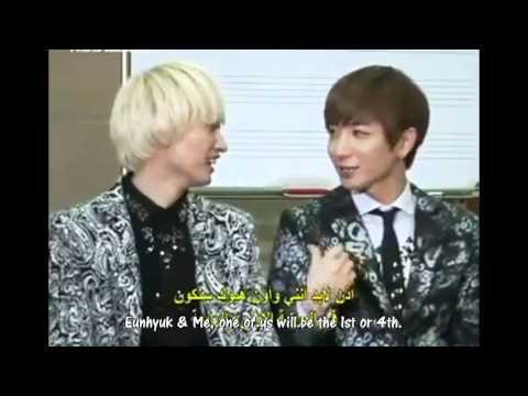 [ENG] 111010 Leeteuk Donghae Eunhyuk Kyuhyun - Popularity ranking @ Arabic Interview