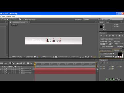 After Effects CS4: How to Make Flash Banner [Urdu Tutorials]