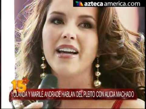 Yolanda Andrade responde a Alicia Machado