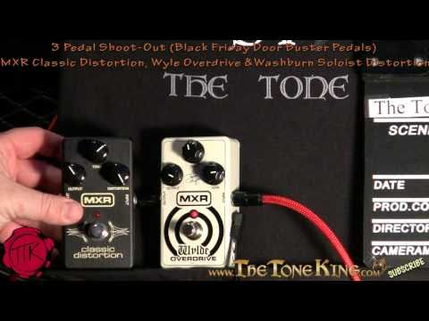3 Pedal Shoot-Out : MXR Classic Distortion vs. Zakk Wylde Overdrive vs. Washburn Soloist
