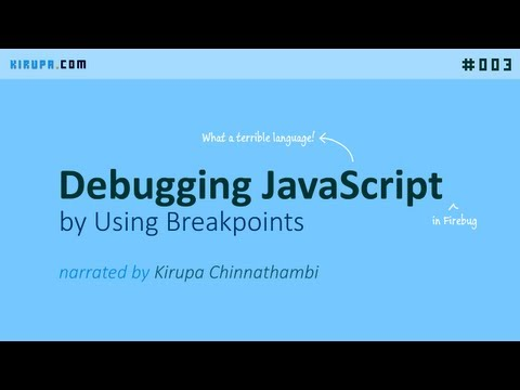 Debugging JavaScript by Using Breakpoints