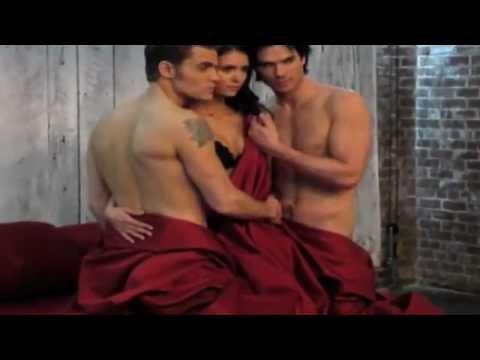 The Vampire Diaries - Season 3 - Ian, Nina & Paul - BTS Video of EW Magazine Cover Shoot HD