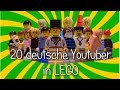 20 deutsche Youtuber in LEGO