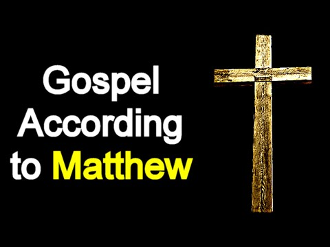 Gospel According to Matthew - Audio Bible Reading ( New Testament / ASV )