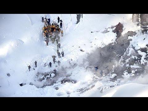 雪崩の幅、約70メートル 秋田・玉川温泉で実況見分