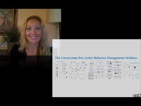 The Cornerstone Pro-Active Behavior Management Webinar