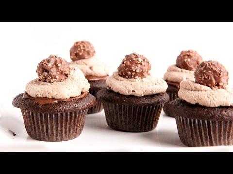 Ferrero Rocher Cupcake Recipe - Laura Vitale - Laura in the Kitchen Episode 952