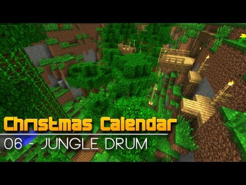 Christmas Calendar - 06 Jungle Drum - Minecraft Parkour Map