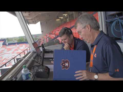 Have you ever wondered what goes on behind the scenes on game day?   Ric Smith is the voice of Auburn football and the Liberal Arts internship director. He insists his team and the hours of preparation each week are what make the show run smoothly.
