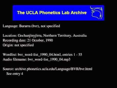 Burarra audio: bvr_word-list_1990_04