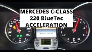 Mercedes-Benz C-Class 220 BlueTEC 170 KM - acceleration 0-100 km/h