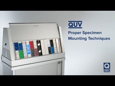 QUV Specimen Mounting