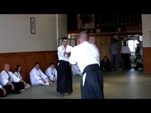 Aikido Bokken Demonstration 4-09 Sempei DJ & Sempei Josh
