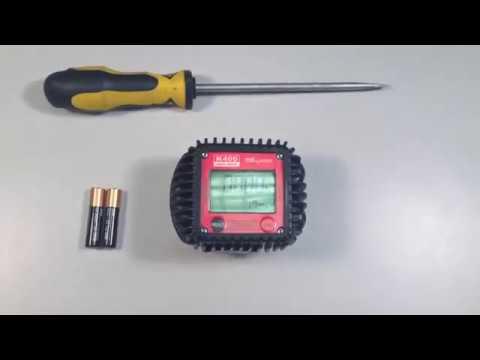 Как заменить батарейки на электронном счетчике Piusi K400