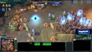 Starcraft 2 Janook v SChasu on BackWater Gulch
